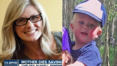 mom saves son 1 412x232.jpg?resize=412,232 - Mother Passed Away After Saving Her Son From Drowning In Lake