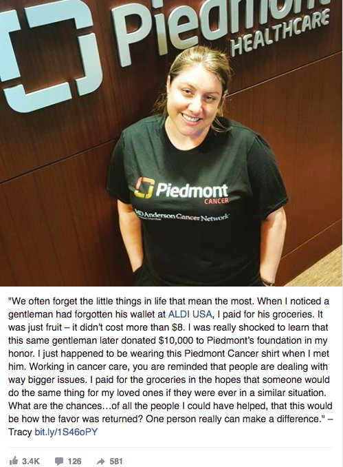 pay it forward donation 1 - She Pays For Stranger's Groceries.. Then, She Gets A Phone Call That Completely Changes Her Life!