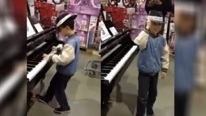 piano in toystore 300x169.jpg?resize=300,169 - Boy Stands In Front Of The Piano In The Middle Of Toy Store, Then His Playing Is Just Stunning