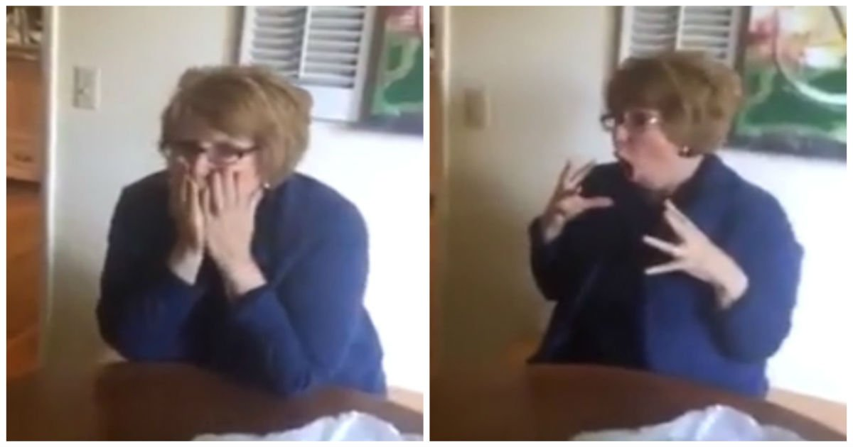 surprise mom freaks out cover.jpg?resize=1200,630 - Daughter Gives Her Gift Box To Open..When Husband Reads The Tag, She Gasps And Completely Loses It!