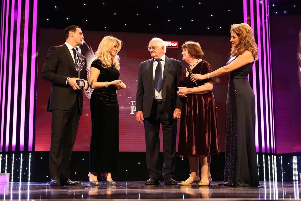 Anne and Terry accepting their Pride of Britain award. Image via Pride Of Britain