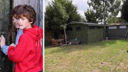 autistic twins house 412x232.jpg?resize=412,232 - Parents Built A Locked Shed With Fence Around It For Their Twin Boys With Severe Autism