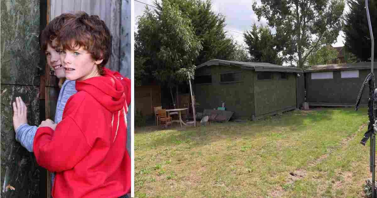 autistic twins house.jpg?resize=1200,630 - Parents Built A Locked Shed With Fence Around It For Their Twin Boys With Severe Autism