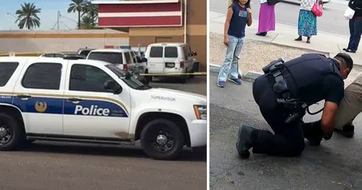 cop shoes to homeless.png?resize=1200,630 - Cop Responded To A Disturbance Call, Arrived On Scene And What He Saw Had Him Drop Down To His Knees