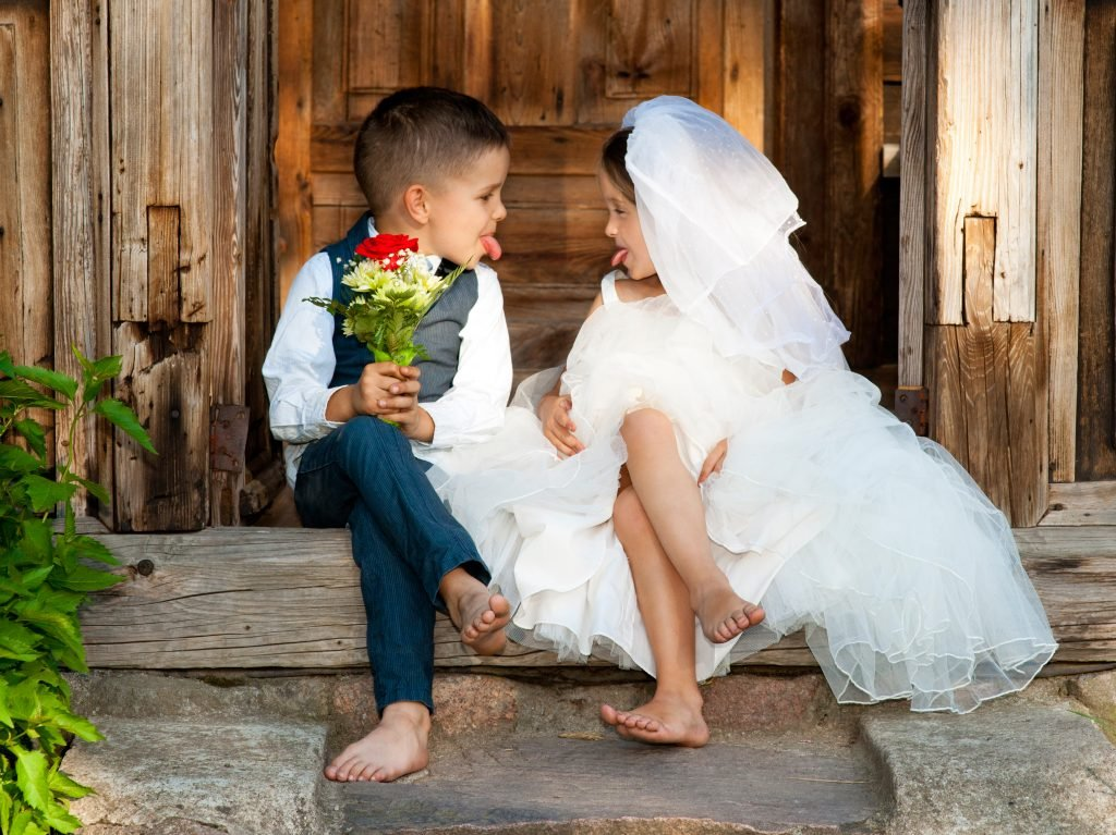Kids Love Couple After the Wedding