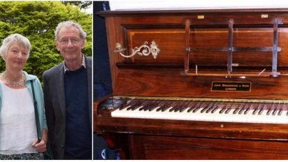 donated piano surprise 412x232.jpg?resize=412,232 - Man Tuned Donated Piano, When He Looked Under The Keys He Found Gold Coins Hidden For Over 75 Years