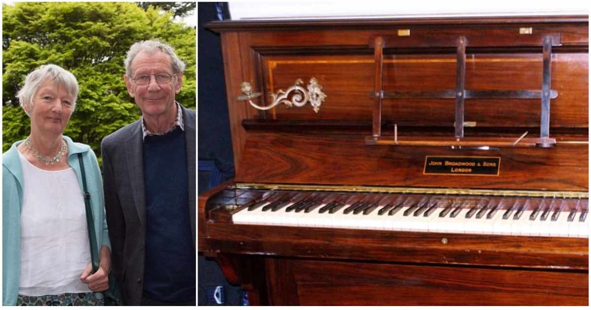 donated piano surprise.jpg?resize=1200,630 - Man Tuned Donated Piano, When He Looked Under The Keys He Found Gold Coins Hidden For Over 75 Years
