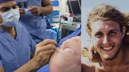 face transplant firefighter 412x232.jpg?resize=412,232 - After A Risky 26-Hour Surgery, Burned Firefighter Looked Totally Unrecognizable
