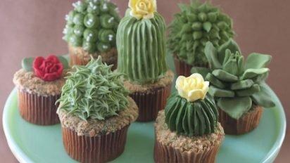 houseplantcupcakes1 web 2 412x232.jpg?resize=412,232 - Ces cupcakes cactus sont trop beaux pour être mangés !