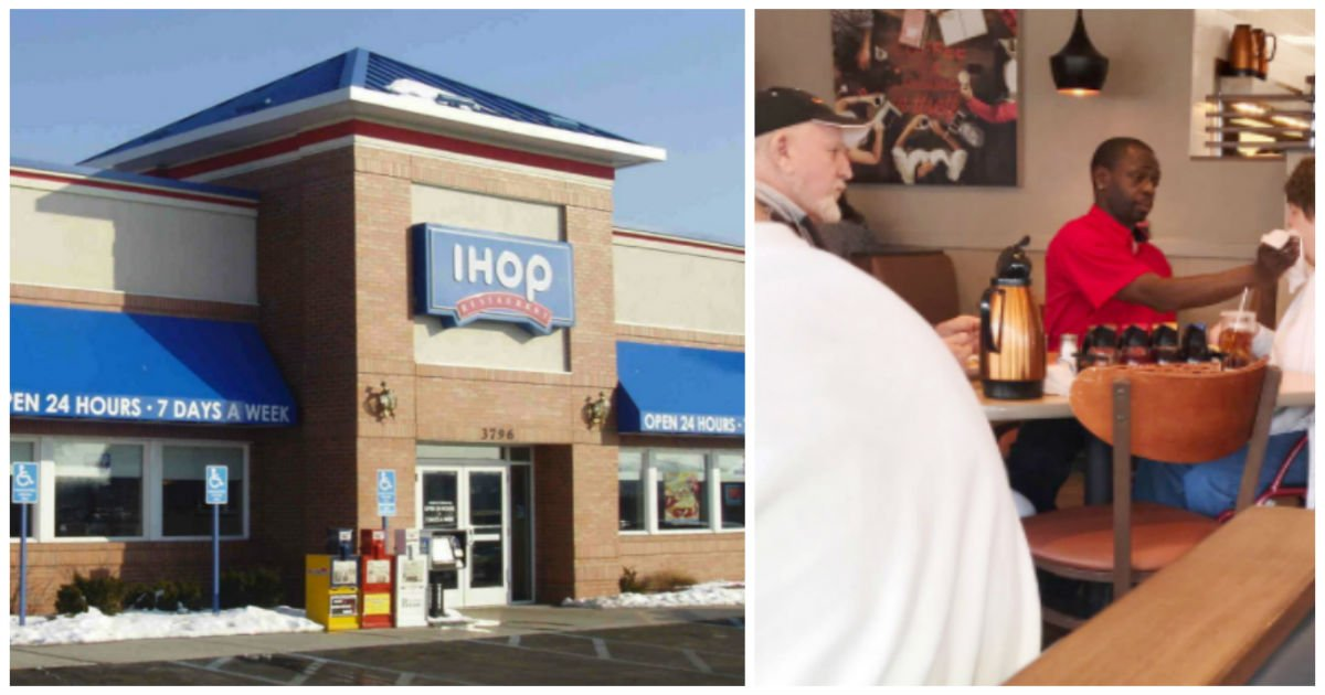 ihop cover - She Sees IHOP Server Take Away Disabled Woman's Fork.. What He Does Next Inspires Her!