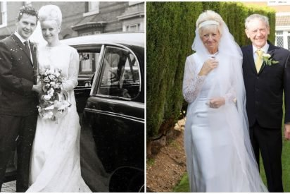 weddingclothes 412x275.jpg?resize=412,275 - Granddaughter Surprised Elderly Couple For 50th Wedding Anniversary