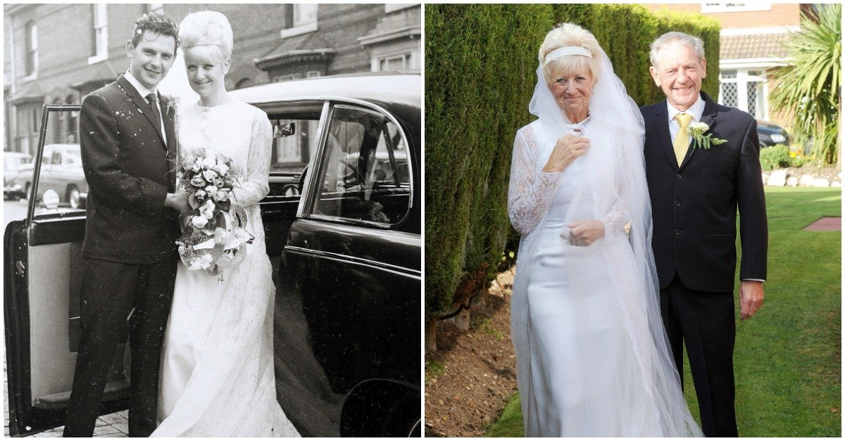 weddingclothes.jpg?resize=648,365 - Granddaughter Surprises Elderly Couple for 50th Wedding Anniversary