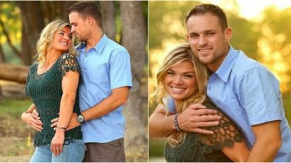 wife husband photo cover 412x232.jpg?resize=412,232 - Married Couple Proudly Posed For Photos Despite Husband's Condition