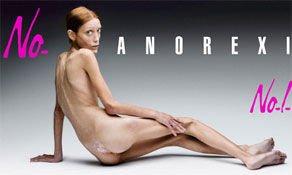 La mannequin française Isabelle Caro a posé pour une campagne contre l'anorexie, trois ans avant de mourir de cette maladie /© Olivero Toscani