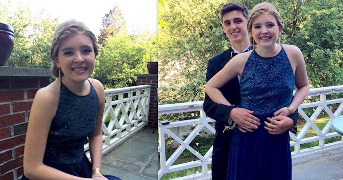 catherine malatesta prom dress.jpg?resize=1200,630 - Elle décède d'un cancer à 16 ans, ses amies lui rendent un magnifique hommage