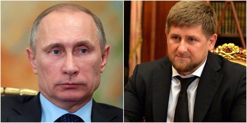 A gauche : Vladimir Poutine ©Mikhail Metzel pour l'AFP / A droite : Ramzan Kadyrov ©Wikimedia