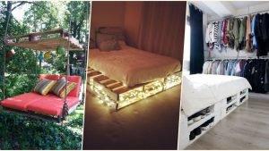 palets beds 300x169 - TOP 10 des meilleures façons de transformer des palettes en lit, pour une décoration écolo et originale !