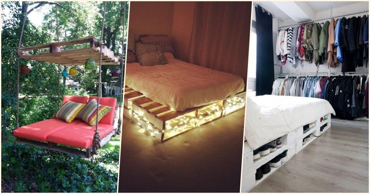 top 10 des meilleures fa ons de transformer des palettes en lit pour une d coration colo et. Black Bedroom Furniture Sets. Home Design Ideas