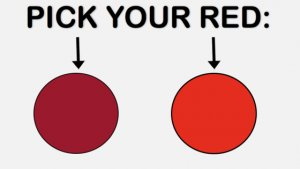 red 300x169 - QUIZ: This Gorgeous Color Test Will Reveal Your Dominant Gender