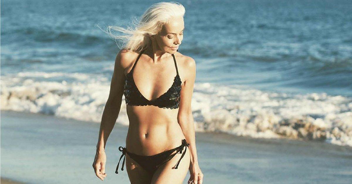 sans titre 3 5.jpg?resize=1200,630 - Cette mannequin de 61 ans vous révèle ses secrets de beauté !