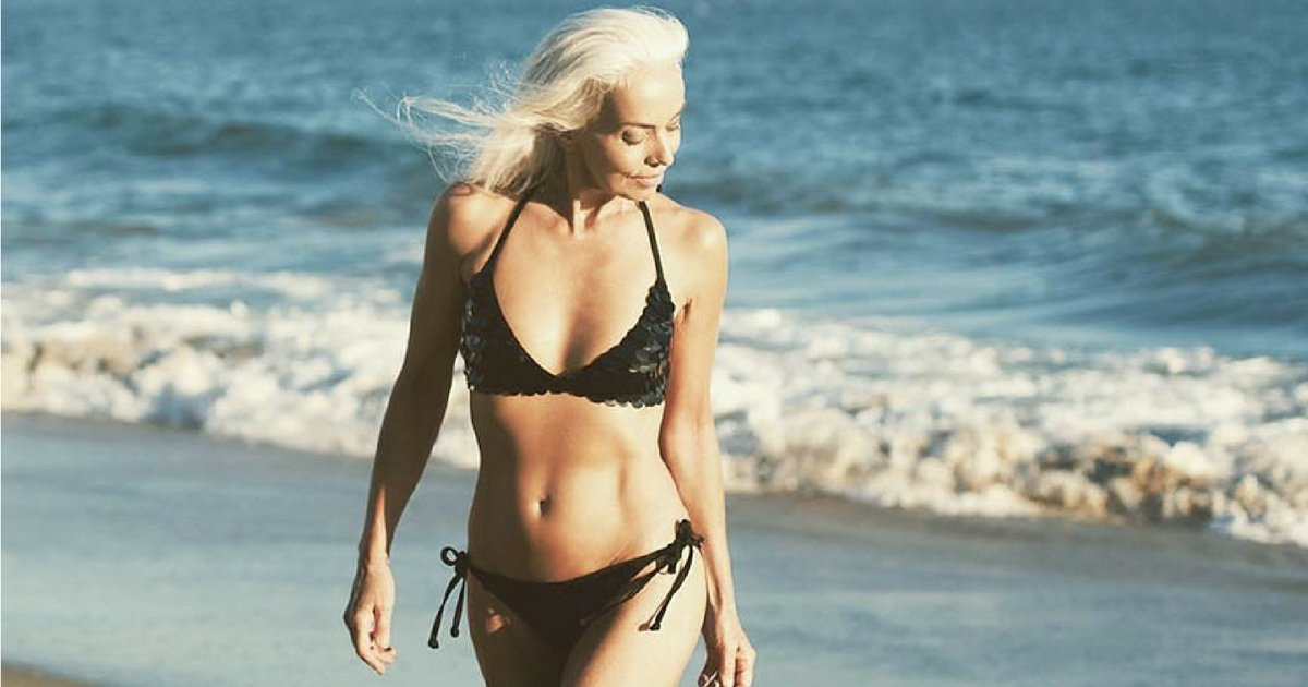 sans titre 3 5 - Cette mannequin de 61 ans vous révèle ses secrets de beauté !