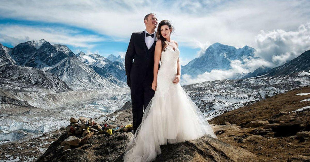 sans titre 6 2.jpg?resize=1200,630 - Ce couple se marie au sommet de l'Everest, les photos sont bluffantes
