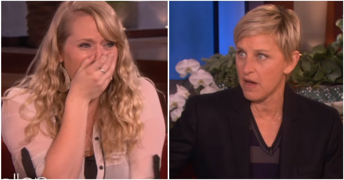 waitress pays soldier ellen.jpg?resize=636,358 - Struggling Single Mom Only Earns $8 A Day. Then, Ellen Invites Her To The Show And Changes Her Life