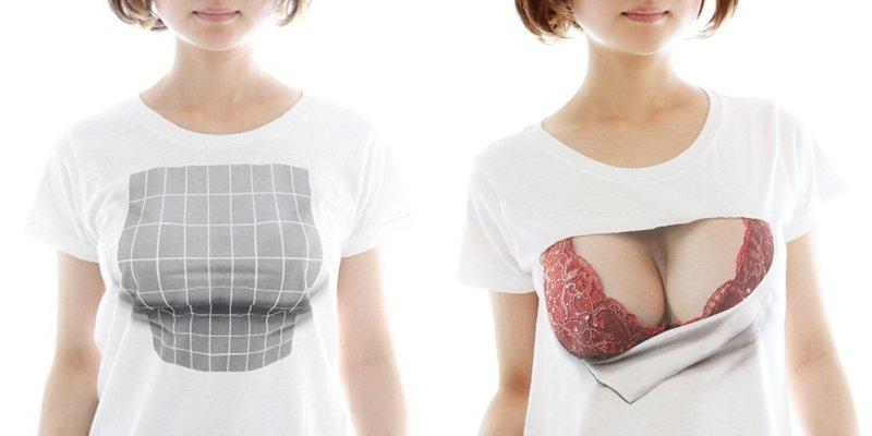 """1 16 - 【話題】""""着ているだけで巨乳に見える""""…バストアップTシャツが大人気!"""