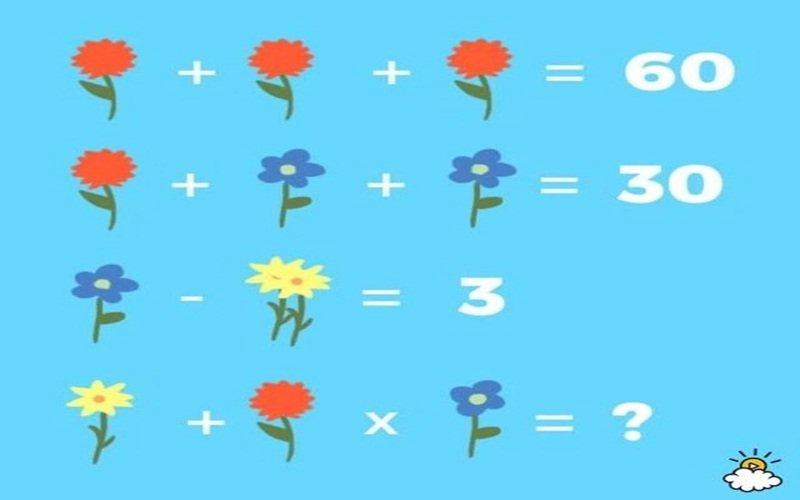 1 17.jpg?resize=412,232 - 花のイラストを用いた計算問題?・・一発で正解したら素晴らしい洞察力!