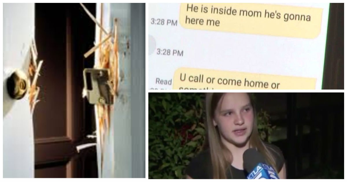 intruder horrifying text cover - Girl Hears Banging On Door. Hours Later, Mom Receives A Chilling Text From The Bathroom