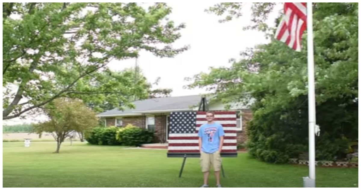 jacob flag cover 1 - Teen Takes Photo In Front Of The Flag And Posts It Online.. But People Are Shocked When They Zoom In!