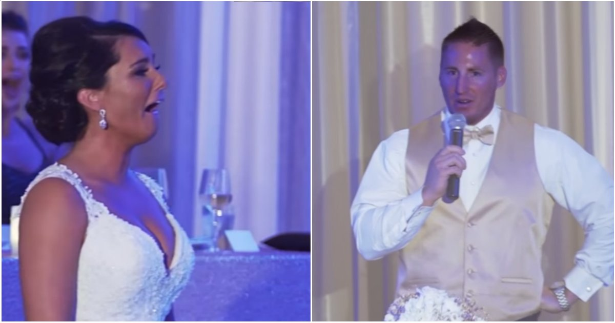 """surprise wedding - As Soon As The Bride Says """"I Do,"""" Groom Reveals Secret That They Are Now 'A Family Of 3'"""