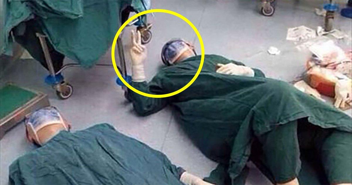 1 3.jpg?resize=412,232 - 32시간 대수술 마치고 수술실 바닥에 쓰러진 의사들