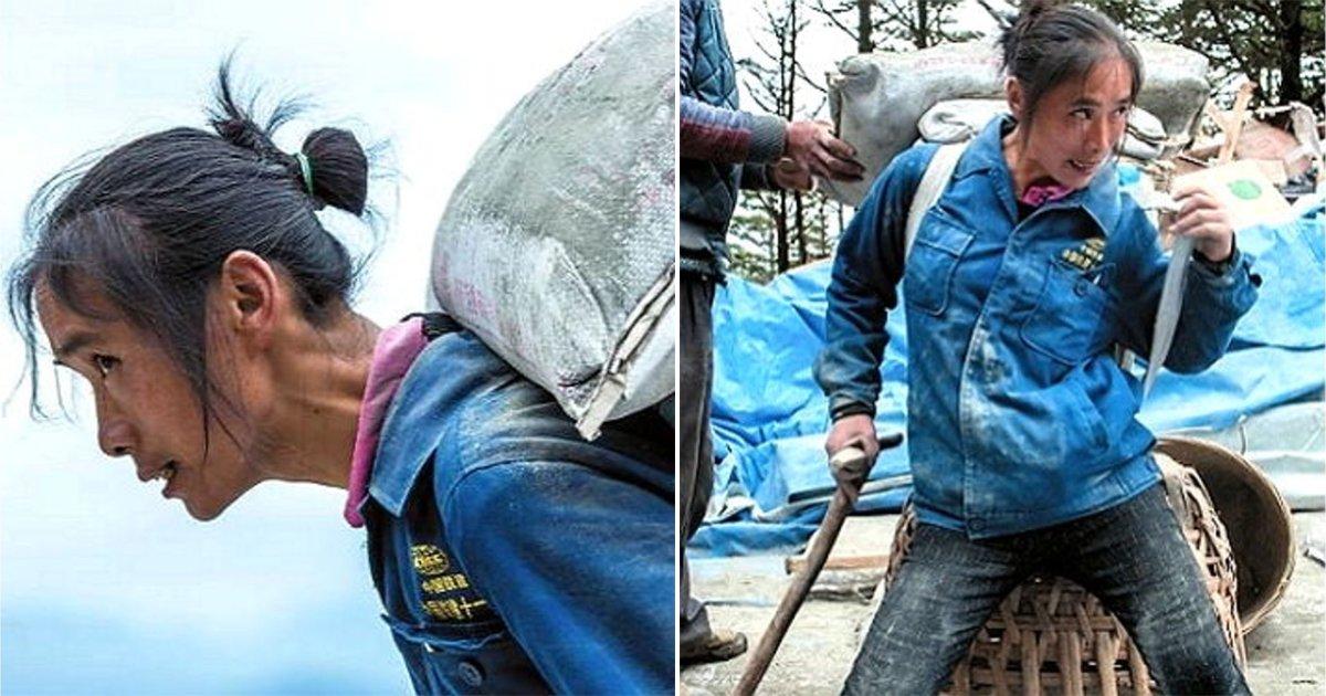 1 - 아들 '학비' 마련하려 '석재 1톤'을 등에 지고 365일 산 정상에 오르는 엄마