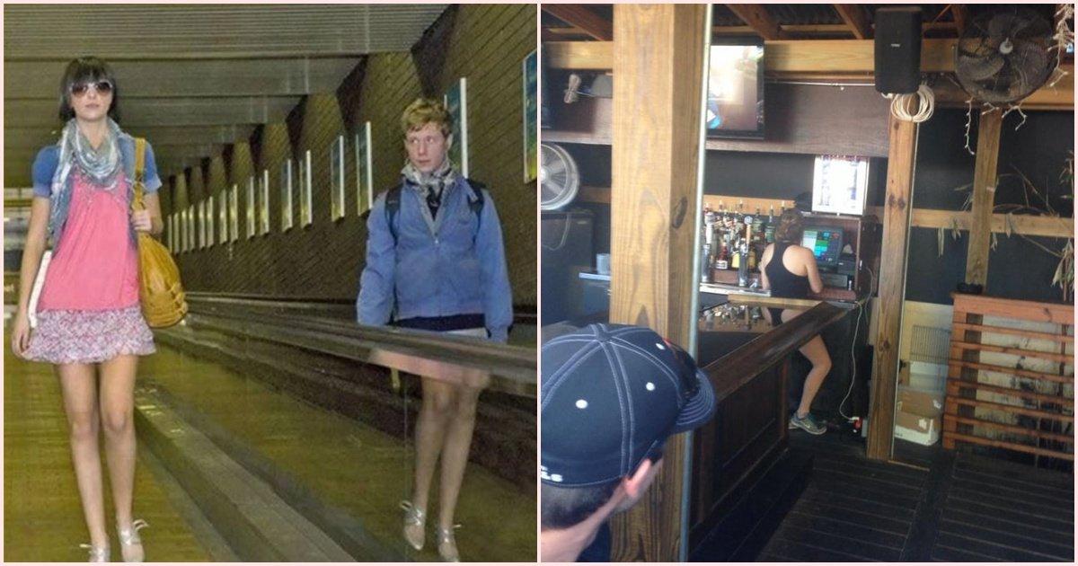 collage 2 - Ces photos où un miroir a tout gâché