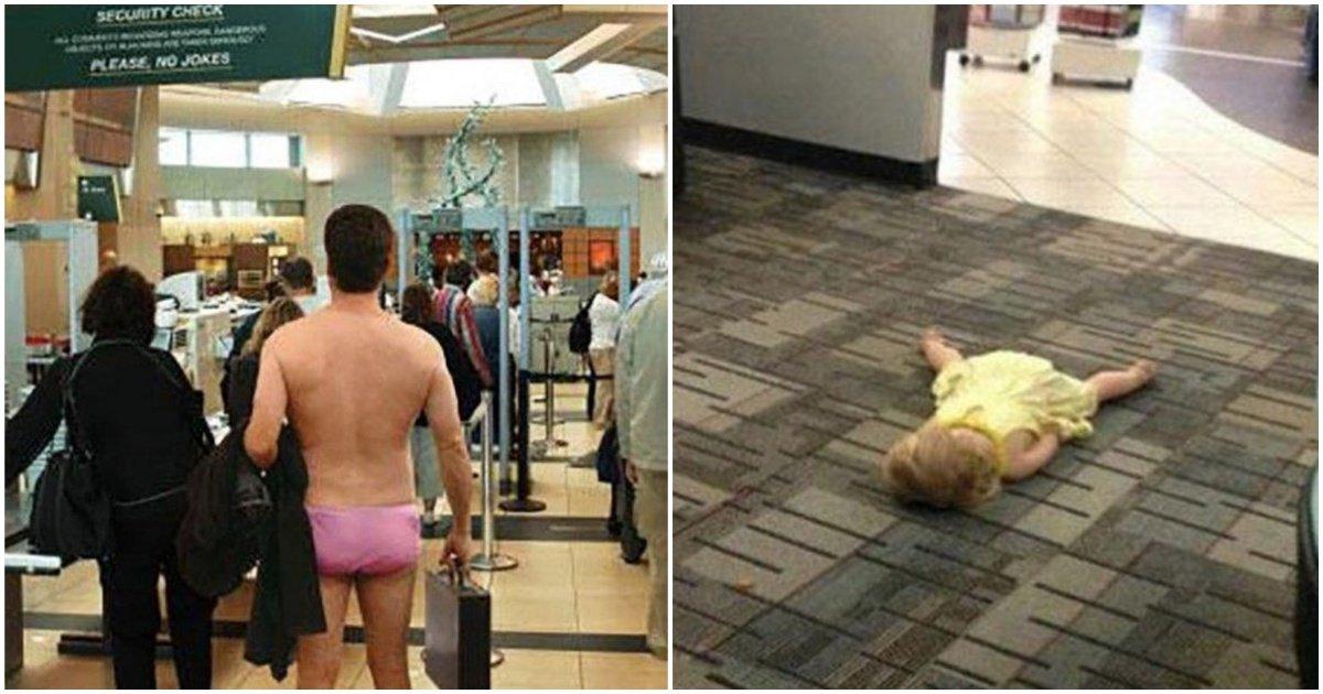 collage3 - Les 25 photos les plus drôles prises dans des aéroports