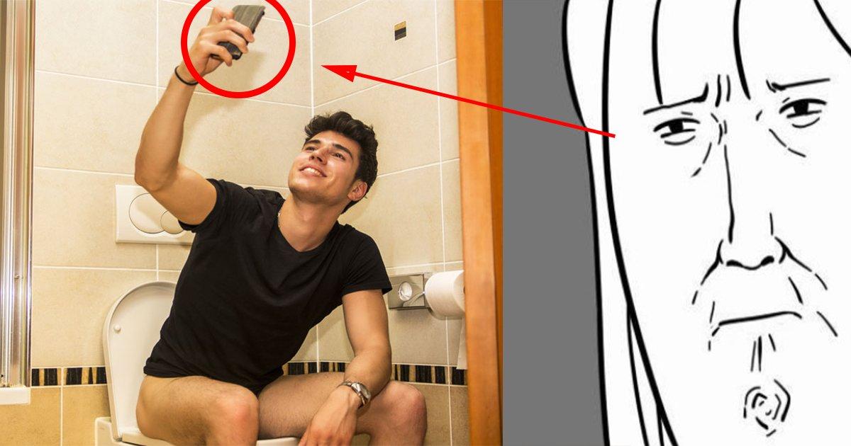 ebb380eab8b0ed95b8eb939ced8fb0.png?resize=412,232 - 잠깐 화장실 갈 때 '휴대폰'을 두고가야하는 충격적인 이유