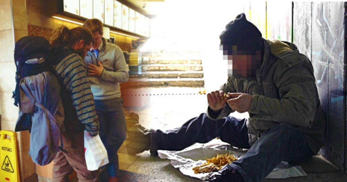 homeless man begs.jpg?resize=636,358 - Starving Man Begs For Scraps. The Manager Says 'No', And Immediately Takes Action.