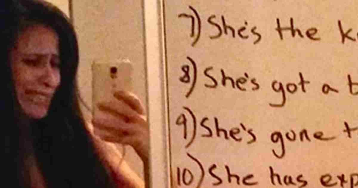 husband mirror note to wife - After A Rough Fight, A Wife Looks At Her Mirror And Sees THIS Note From Her Husband!