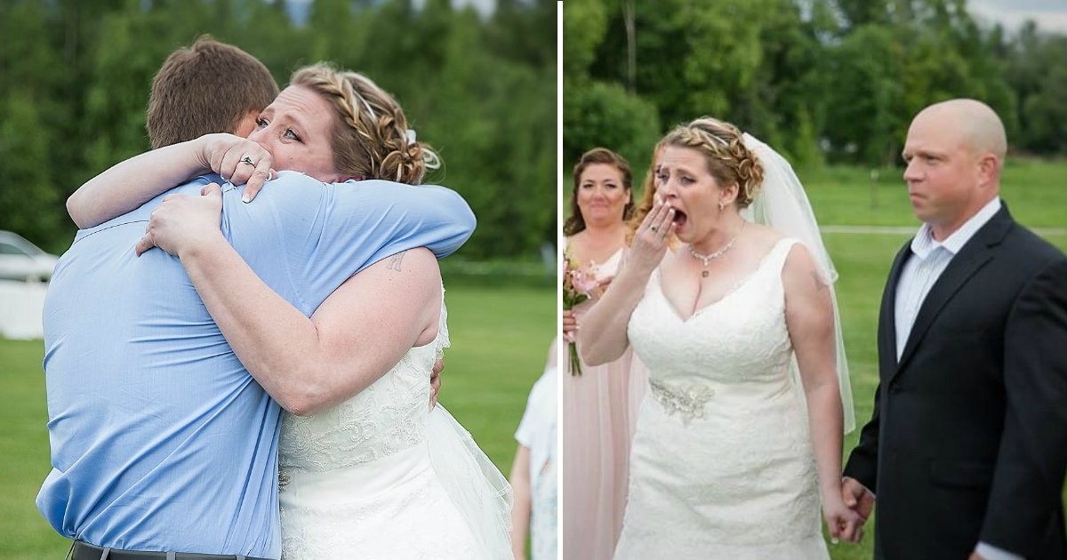 mom meets sons heart.jpg?resize=300,169 - Bride Paused The Wedding And Burst Into Tears After Seeing The Man Who Received Her Son's Heart