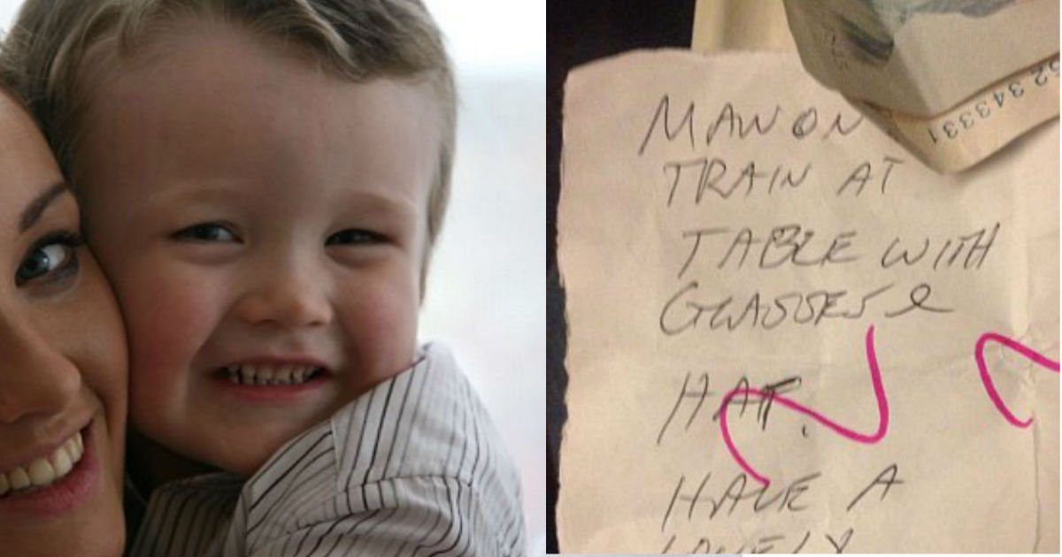 note 2.jpg?resize=636,358 - Mom Has No Idea Stranger Is Watching Her Playing With Son. Then, She Gets A Mysterious Note