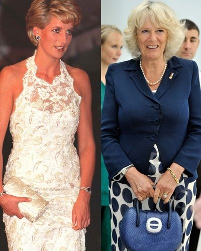 Princess Diana (Left) and Camilla Parker Bowles (Right). Image via Getty Images.