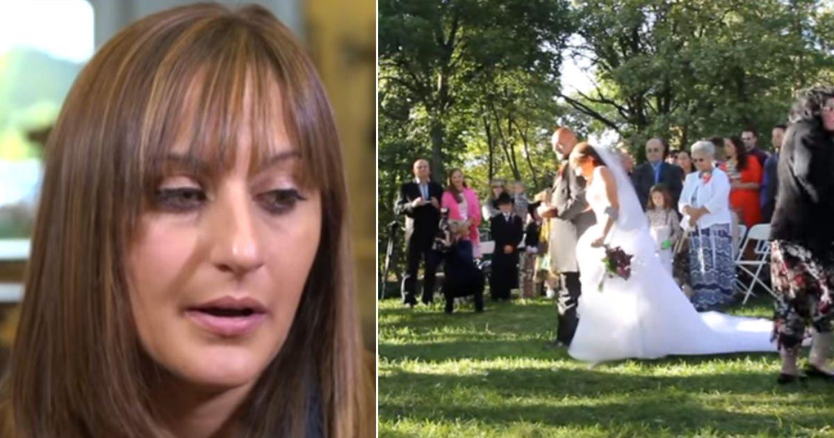 wedding 1.jpg?resize=1200,630 - La mariée descend l'allée, les invités sont stupéfaits