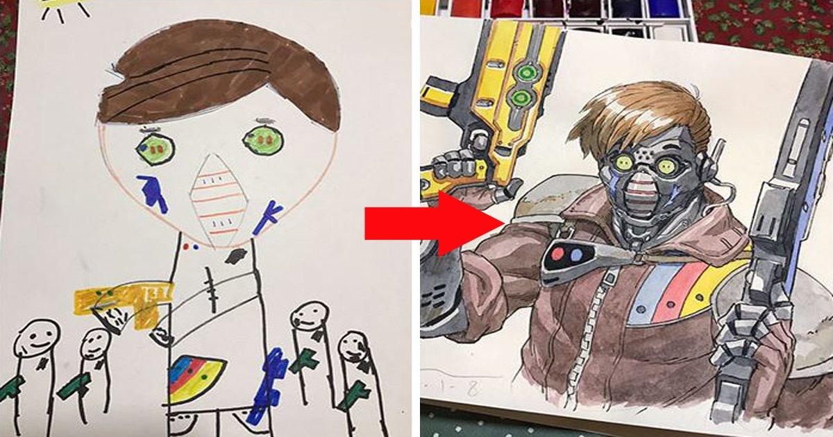 170827010000th3.jpg?resize=412,232 - 아들의 '낙서'를 만화 캐릭터로 만들어낸 '금손' 아빠 (사진 22장)