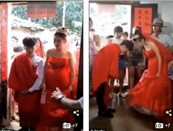 中国の13歳の夫婦