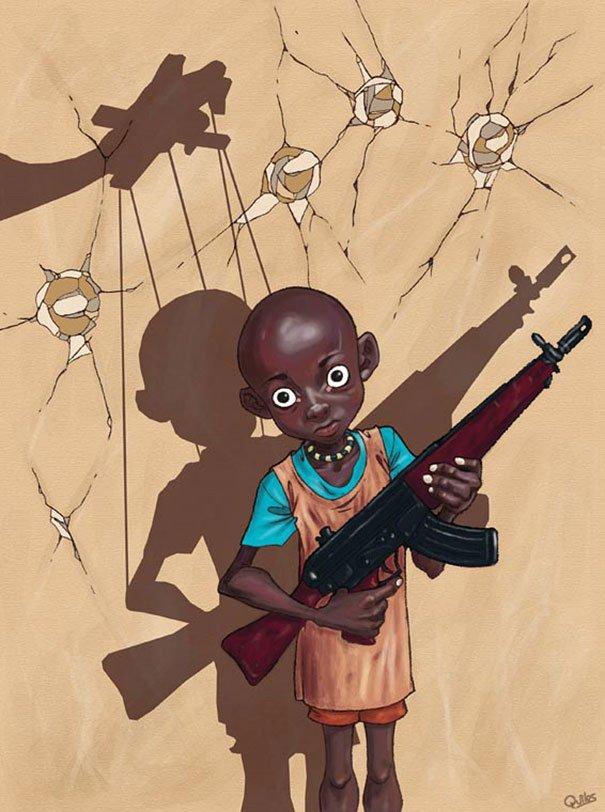 controversial illustrations luis quiles gunsmithcat 17 - 현대 사회의 '어두운 면'을 소름끼치게 표현한 일러스트 23장