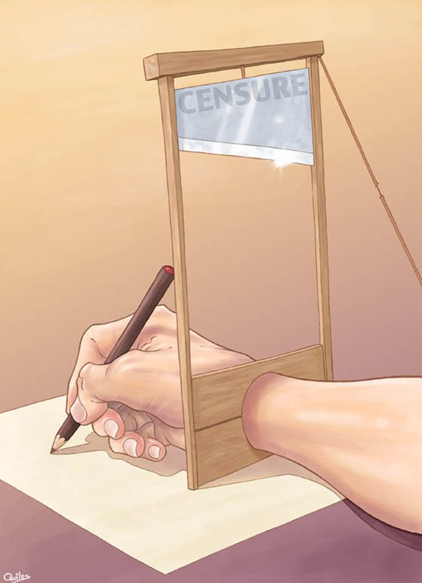 controversial illustrations luis quiles gunsmithcat 9 - 현대 사회의 '어두운 면'을 소름끼치게 표현한 일러스트 23장