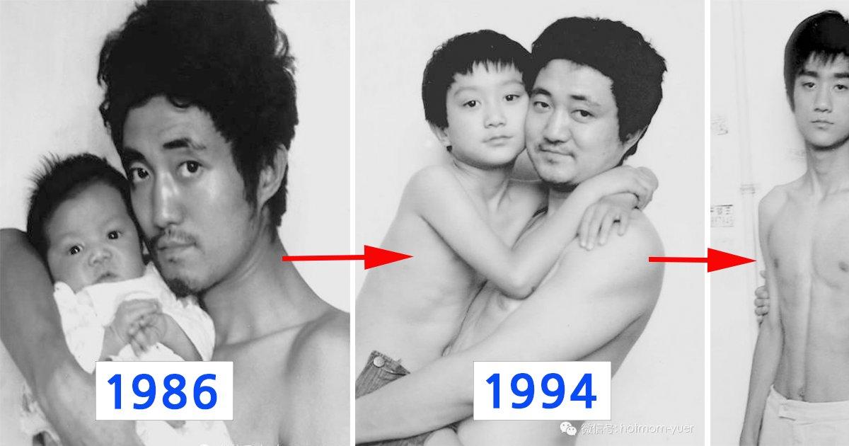 """ec9584eb93a4eab3bc ec9584ebb9a0.png?resize=412,232 - """"1986년부터 2012년까지"""" 무려 '27년'간 매년 같은 사진을 찍은 아들과 아버지 (사진)"""