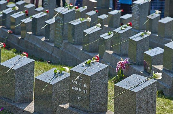 타이타닉 희생자들을 위한 묘지(Photo credit should read ROGERIO BARBOSA/AFP/Getty Images)