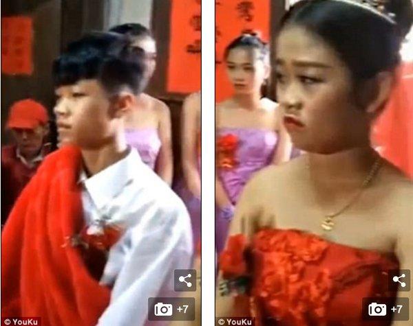 中国13才の夫婦
